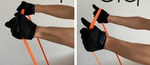 Front raise grip variations