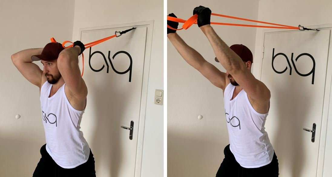 Triceps Overhead Extension from behind